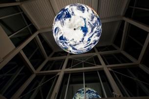 Piner Geospatial Center Globe Chandelier